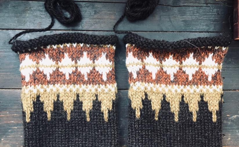 Montering av gensere med isydde ermer- steg forsteg